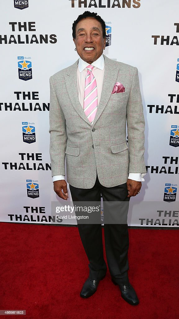 Recording artist <a gi-track='captionPersonalityLinkClicked' href=/galleries/search?phrase=Smokey+Robinson&family=editorial&specificpeople=210698 ng-click='$event.stopPropagation()'>Smokey Robinson</a> attends the 56th Annual Thalians Gala at the House of Blues Sunset Strip on April 26, 2014 in West Hollywood, California.