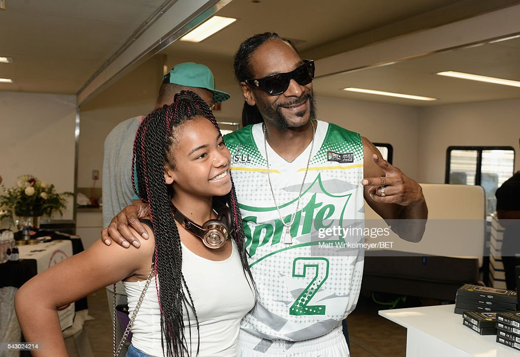 Recording artist Snoop Dogg (R) and guest attend the BETX gifting suite during the 2016 BET Experience on June 25, 2016 in Los Angeles, California.