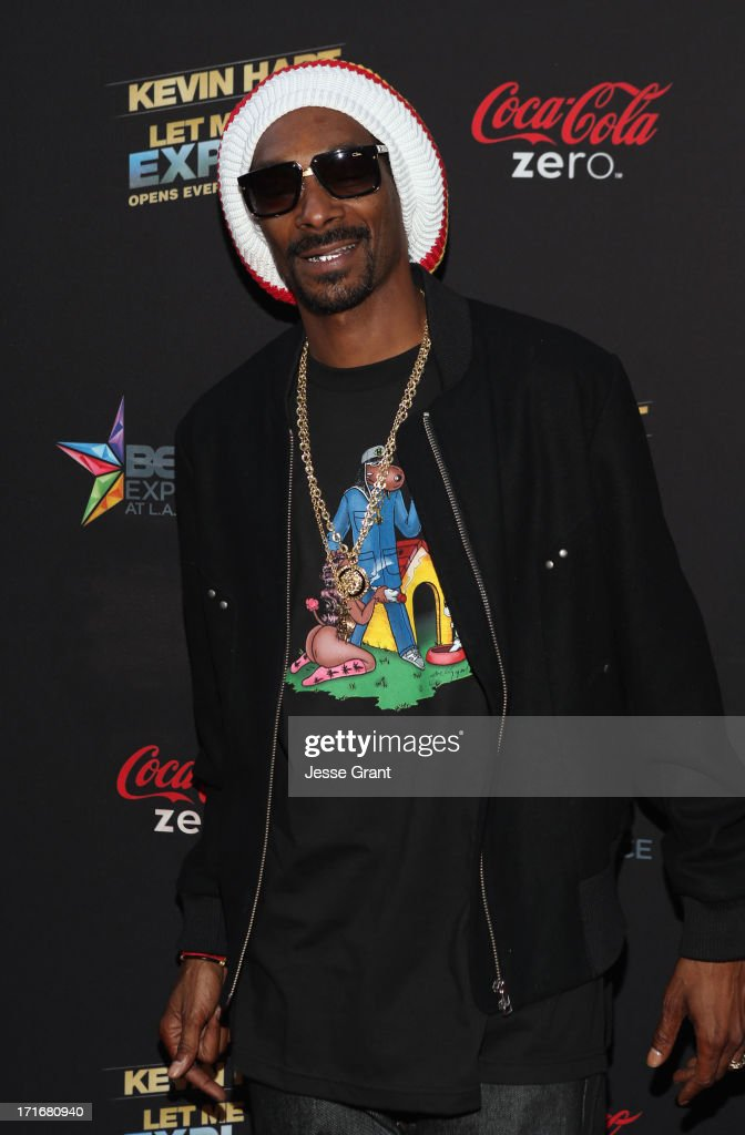 Recording Artist <a gi-track='captionPersonalityLinkClicked' href=/galleries/search?phrase=Snoop+Dogg&family=editorial&specificpeople=175943 ng-click='$event.stopPropagation()'>Snoop Dogg</a> attends Movie Premiere 'Let Me Explain' with Kevin Hart during the 2013 BET Experience at Regal Cinemas L.A. Live on June 27, 2013 in Los Angeles, California.