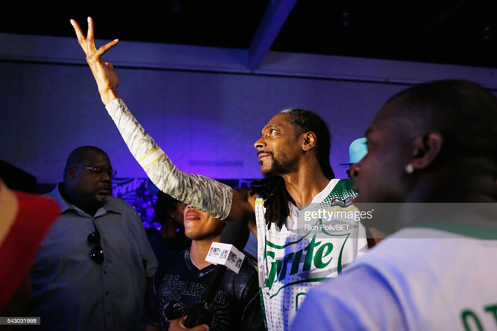 Recording artist Snoop Dogg participates in the celebrity basketball game presented by Sprite during the 2016 BET Experience on June 25, 2016 in Los Angeles, California.