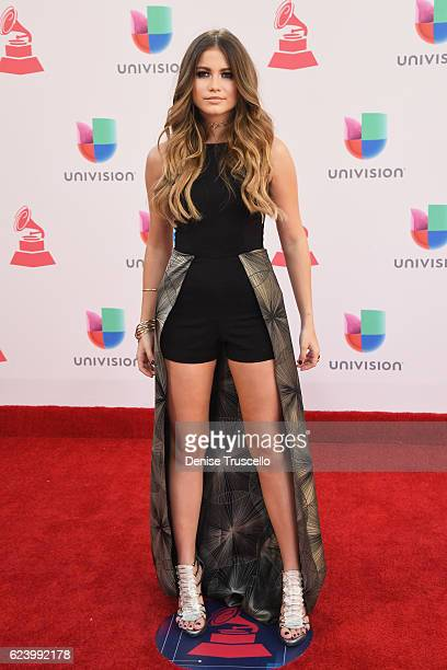 Recording artist Sofia Reyes attends The 17th Annual Latin Grammy Awards at TMobile Arena on November 17 2016 in Las Vegas Nevada