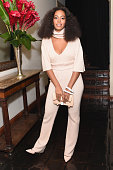 Recording artist Solange Knowles attends CFDA/Vogue Fashion Fund Show and Tea at Chateau Marmont on October 20 2015 in Los Angeles California