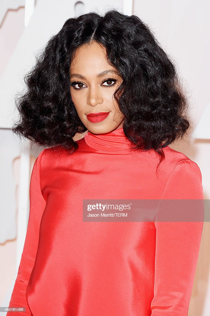 Recording artist Solange Knowles attends the 87th Annual Academy Awards at Hollywood & Highland Center on February 22, 2015 in Hollywood, California.