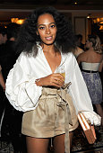 Recording artist Solange Knowles attends the CFDA/Vogue Fashion Fund Dinner at Bouchon Beverly Hills on October 20 2015 in Beverly Hills California