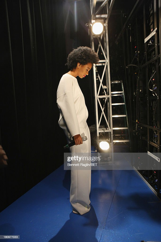 Recording artist <a gi-track='captionPersonalityLinkClicked' href=/galleries/search?phrase=Solange+Knowles&family=editorial&specificpeople=221489 ng-click='$event.stopPropagation()'>Solange Knowles</a> visits 106 & Park at 106 & Park Studio on September 18, 2013 in New York City.