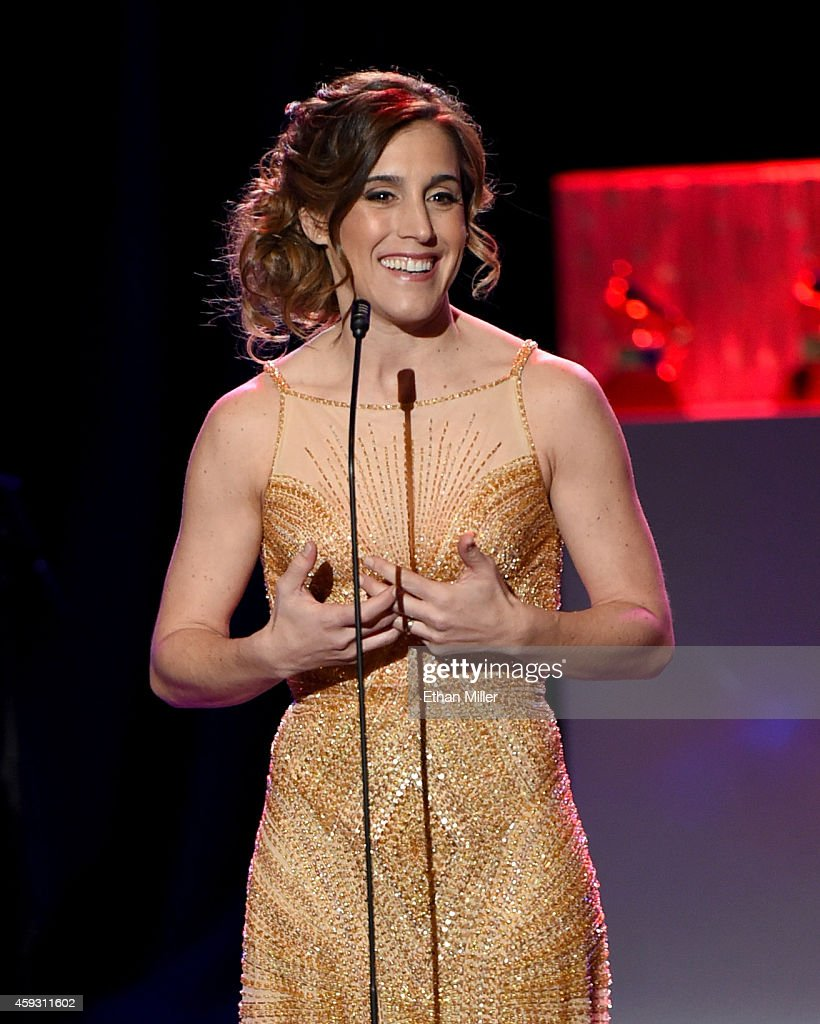 Recording artist Soledad Pastorutti accepts the Best Folk Album award for 'Raiz' onstage during the 15th annual Latin GRAMMY Awards premiere ceremony at the Hollywood Theatre at the MGM Grand Hotel/Casino on November 20, 2014 in Las Vegas, Nevada.