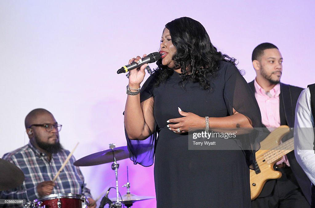 Recording artist Sonja Hopkins performs onstage during NMAAM's Celebration Of Legends Red Carpet And Luncheon on May 6, 2016 in Nashville, Tennessee.