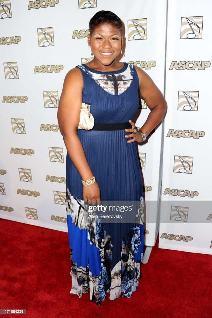 Recording artist Stacy Barthe arrives at ASCAP's 26th Annual Rhythm & Soul Music Awards at The Beverly Hilton Hotel on June 27, 2013 in Beverly Hills, California.