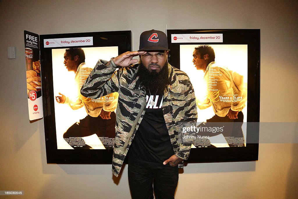 Recording artist <a gi-track='captionPersonalityLinkClicked' href=/galleries/search?phrase=Stalley&family=editorial&specificpeople=5838307 ng-click='$event.stopPropagation()'>Stalley</a> attends the '12 Years A Slave' screening at AMC Empire 25 Theater on October 16, 2013 in New York City.