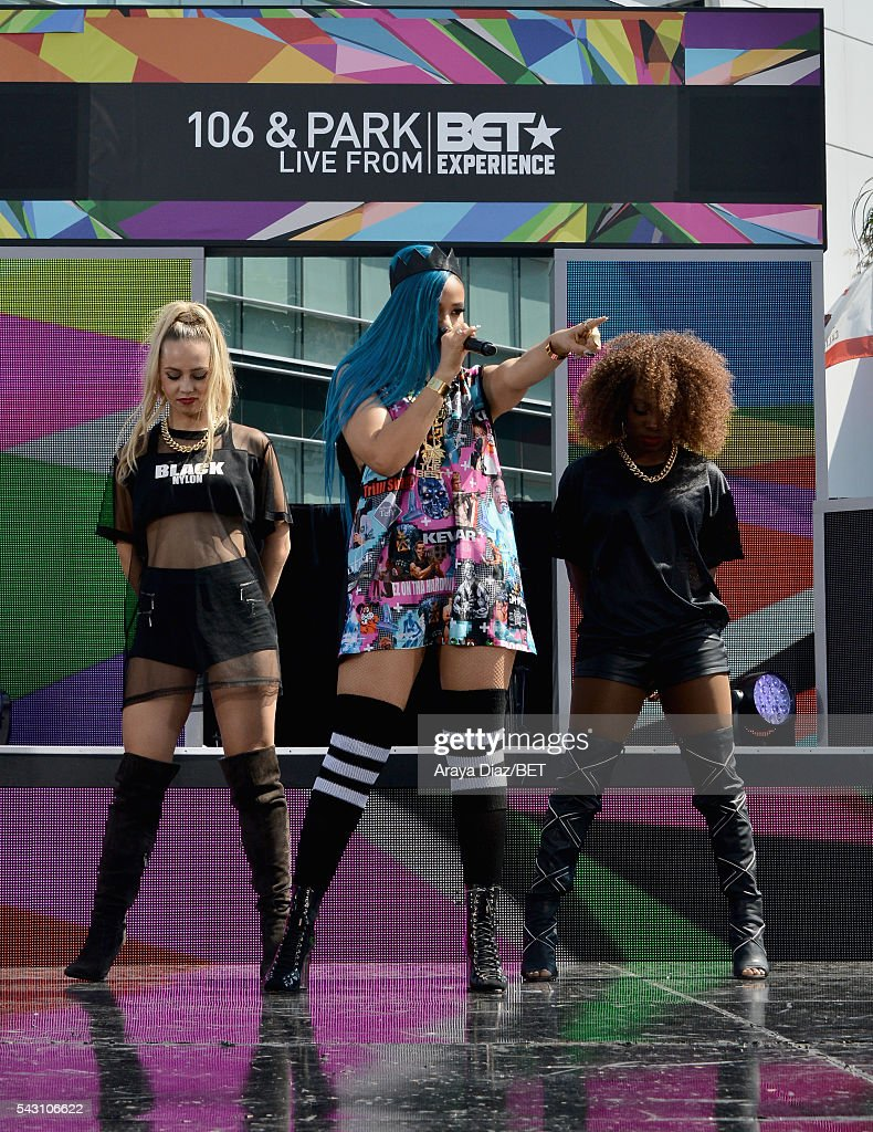 Recording artist Steph Lecor performs onstage at 106 & Park Sponsored by Coca-Cola during the 2016 BET Experience on June 25, 2016 in Los Angeles, California.