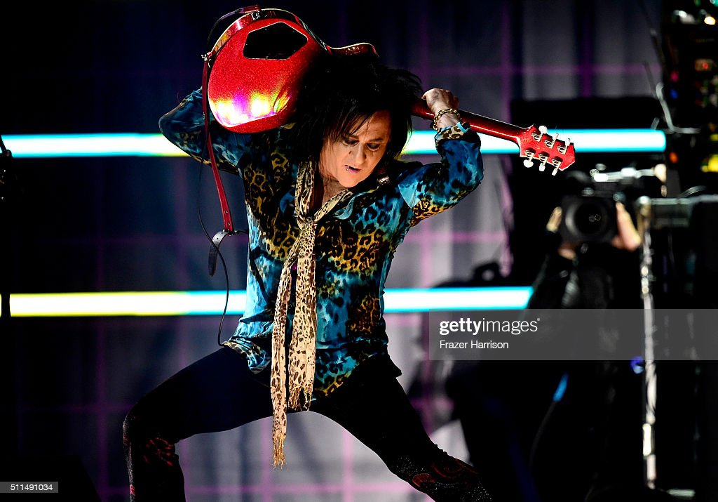Recording artist <a gi-track='captionPersonalityLinkClicked' href=/galleries/search?phrase=Steve+Stevens&family=editorial&specificpeople=225031 ng-click='$event.stopPropagation()'>Steve Stevens</a> performs onstage during the first ever iHeart80s Party at The Forum on February 20, 2016 in Inglewood, California.