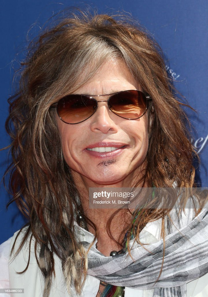 Recording artist <a gi-track='captionPersonalityLinkClicked' href=/galleries/search?phrase=Steven+Tyler+-+Musician&family=editorial&specificpeople=202080 ng-click='$event.stopPropagation()'>Steven Tyler</a> attends John Varvatos 10th Annual Stuart House Benefit Presented by Chrysler, at John Varvatos Los Angeles on March 10, 2013 in Los Angeles, California.