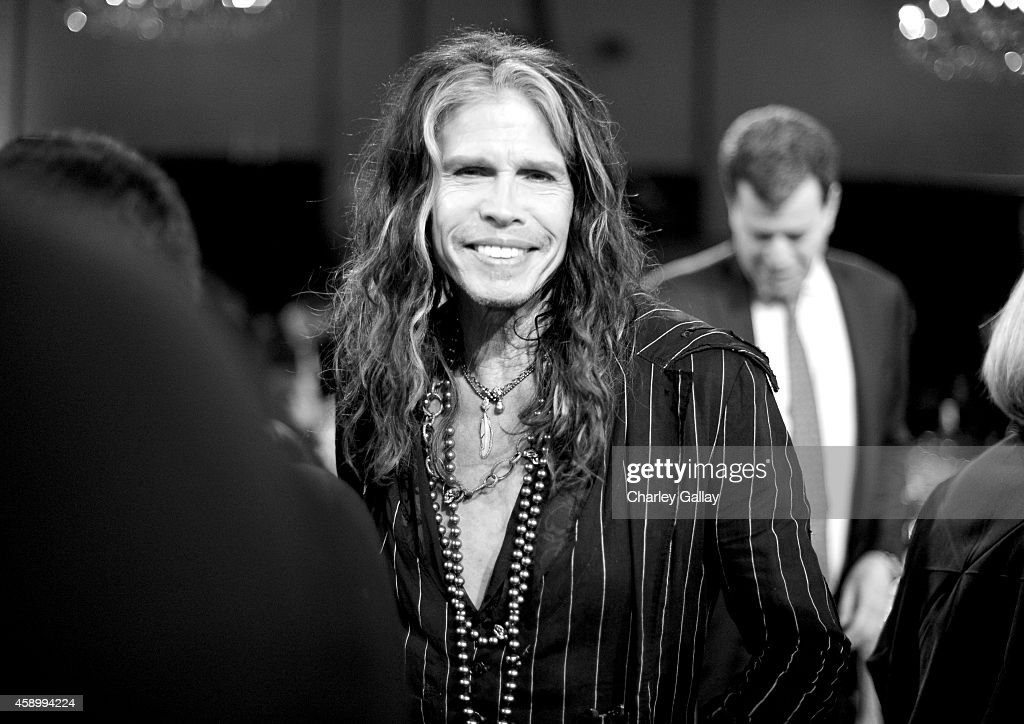 Recording artist <a gi-track='captionPersonalityLinkClicked' href=/galleries/search?phrase=Steven+Tyler+-+Musician&family=editorial&specificpeople=202080 ng-click='$event.stopPropagation()'>Steven Tyler</a> attends the 18th Annual Hollywood Film Awards at The Palladium on November 14, 2014 in Hollywood, California.