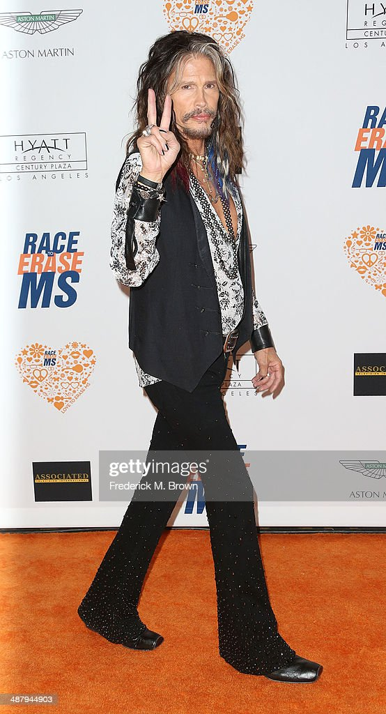 Recording artist <a gi-track='captionPersonalityLinkClicked' href=/galleries/search?phrase=Steven+Tyler+-+Musician&family=editorial&specificpeople=202080 ng-click='$event.stopPropagation()'>Steven Tyler</a> attends the 21st Annual Race to Erase MS at the Hyatt Regency Century Plaza Hotel on May 2, 2014 in Century City, California.