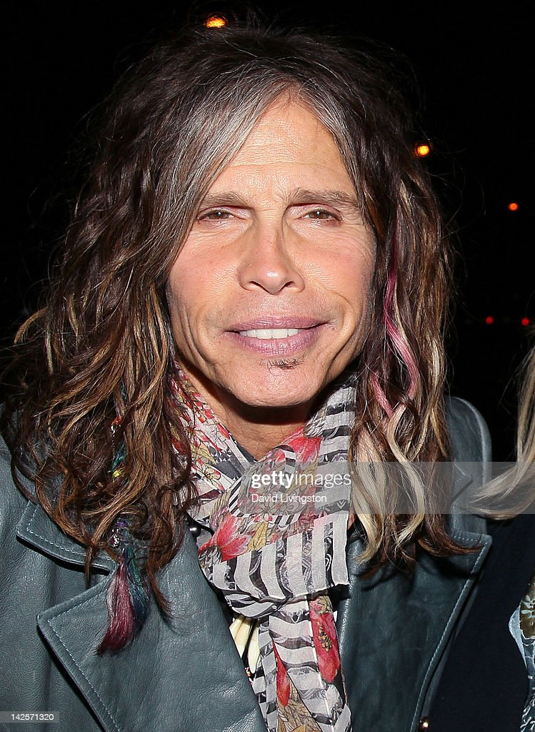 Recording artist <a gi-track='captionPersonalityLinkClicked' href=/galleries/search?phrase=Steven+Tyler+-+Musician&family=editorial&specificpeople=202080 ng-click='$event.stopPropagation()'>Steven Tyler</a> attends The Click Clack Boom performance presented by Andrew Charles and hosted by Andy Hilfiger & Mia Tyler at the Viper Room on April 7, 2012 in West Hollywood, California.