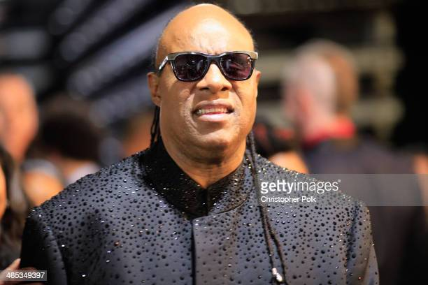 Recording artist Stevie Wonder attends the 56th GRAMMY Awards at Staples Center on January 26 2014 in Los Angeles California