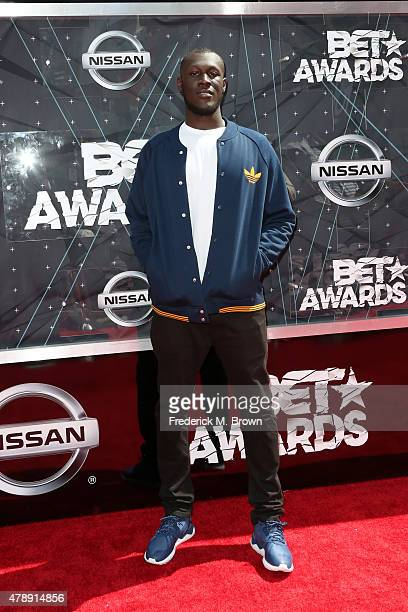 Recording artist Stormzy attends the 2015 BET Awards at the Microsoft Theater on June 28 2015 in Los Angeles California