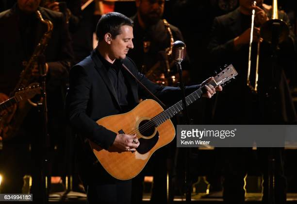 Recording artist Sturgill Simpson performs onstage during The 59th GRAMMY Awards at STAPLES Center on February 12 2017 in Los Angeles California