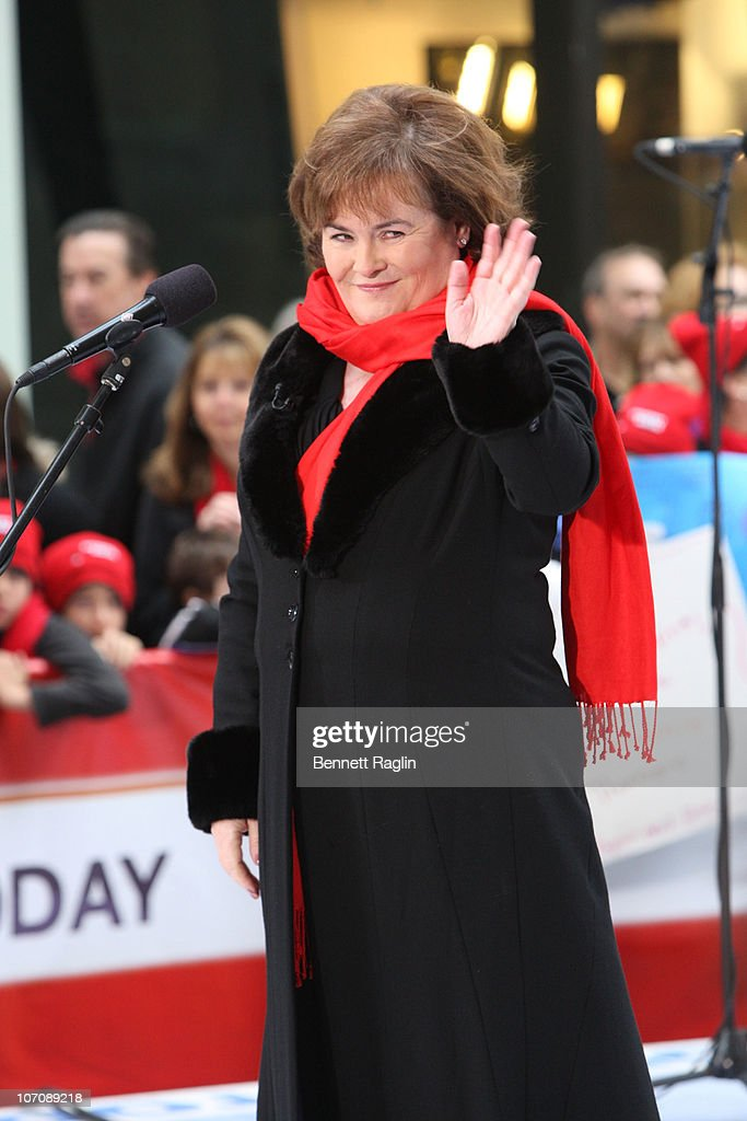 Recording artist Susan Boyle performs on NBC's 'Today' at Rockefeller Center on November 23, 2010 in New York City.