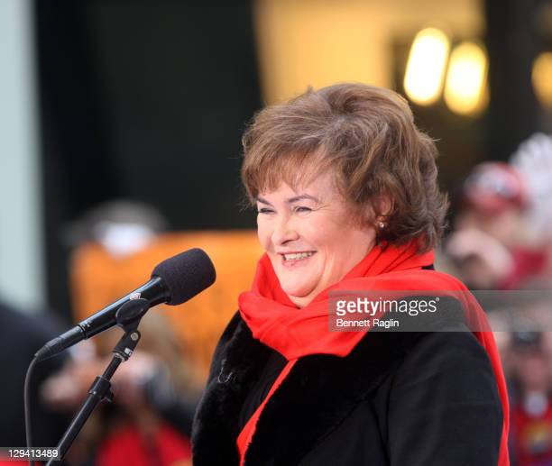 Recording artist Susan Boyle performs on NBC's 'Today' at Rockefeller Center on November 23 2010 in New York City