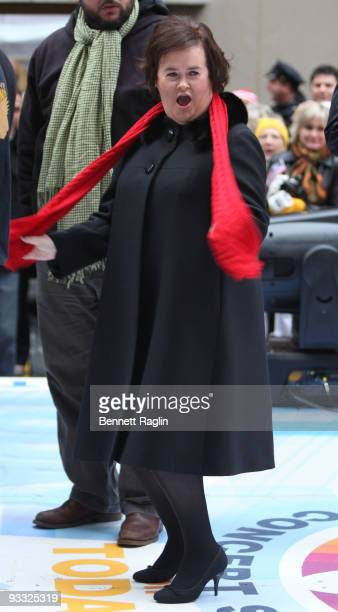 Recording artist Susan Boyle performs on NBC's 'Today' at Rockefeller Center on November 23 2009 in New York City