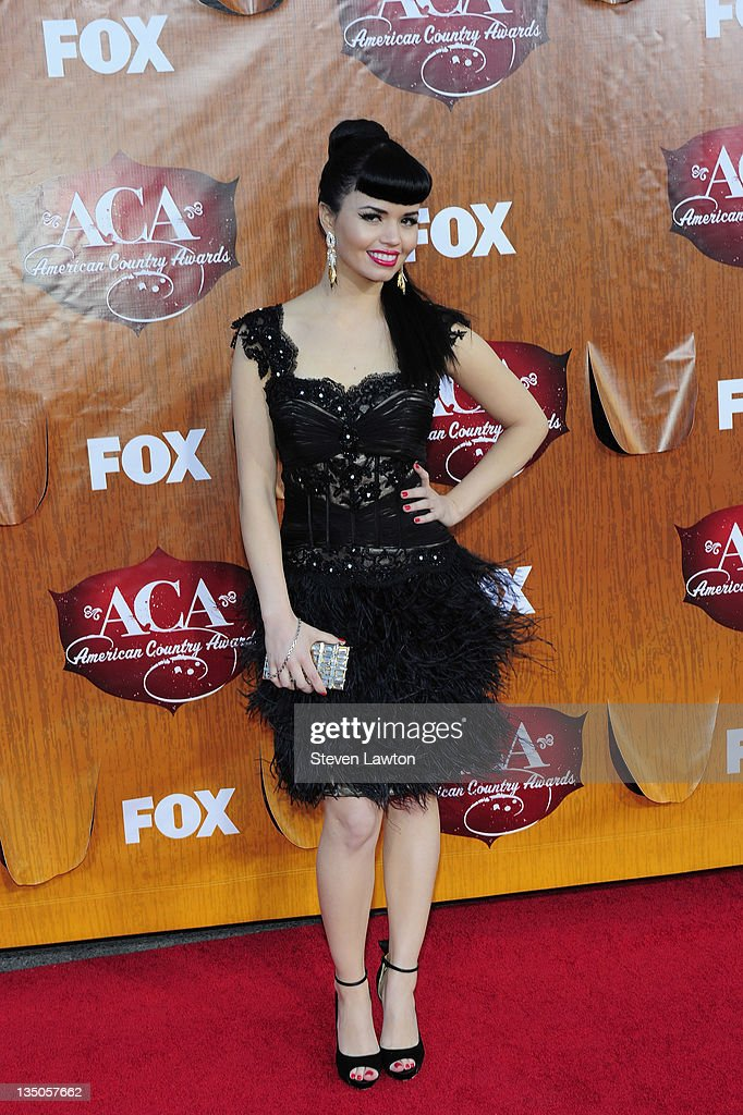 Recording artist Susie Brown of The JaneDear Girls arrives for the American Country Awards at the MGM Grand Garden Arena on December 5, 2011 in Las Vegas, Nevada.
