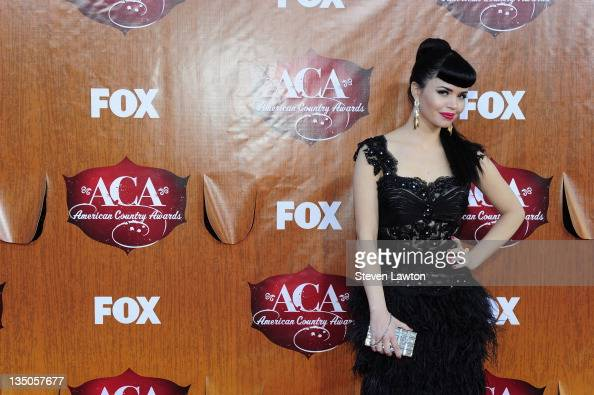 Recording artist Susie Brown of The JaneDear Girls arrives for the American Country Awards at the MGM Grand Garden Arena on December 5 2011 in Las...