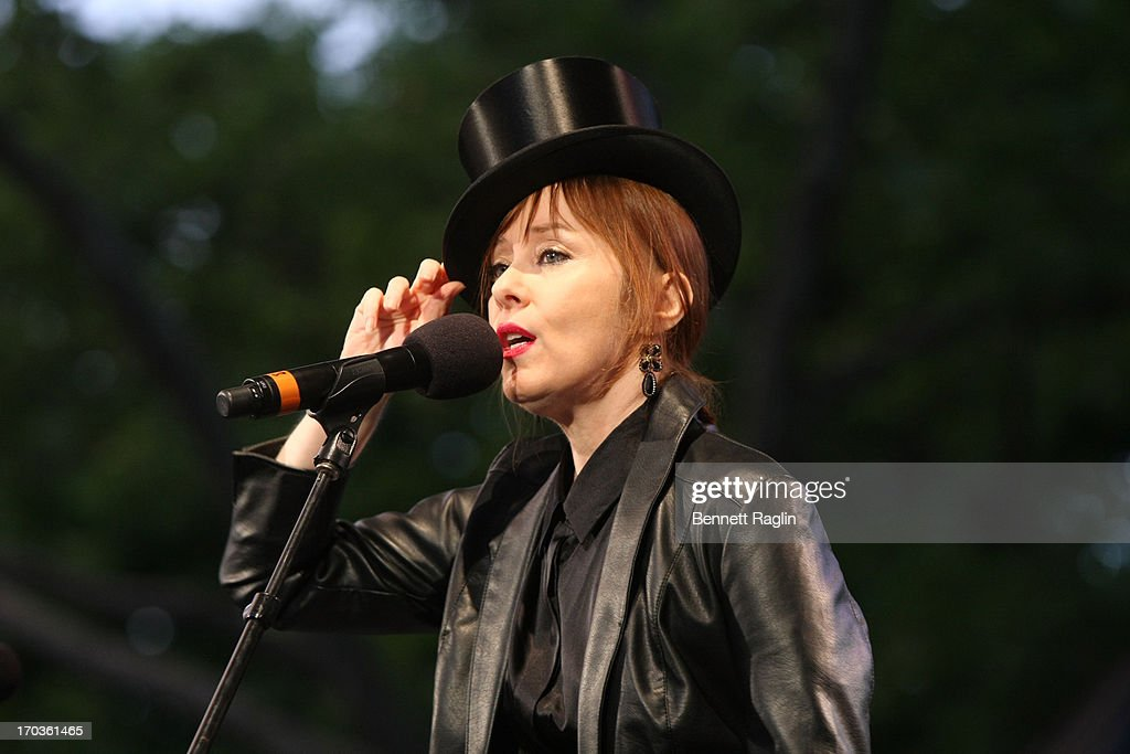 Recording artist <a gi-track='captionPersonalityLinkClicked' href=/galleries/search?phrase=Suzanne+Vega&family=editorial&specificpeople=214169 ng-click='$event.stopPropagation()'>Suzanne Vega</a> performs during the 2013 City Parks Foundation's SummerStage Gala at Central Park SummerStage on June 11, 2013 in New York City.