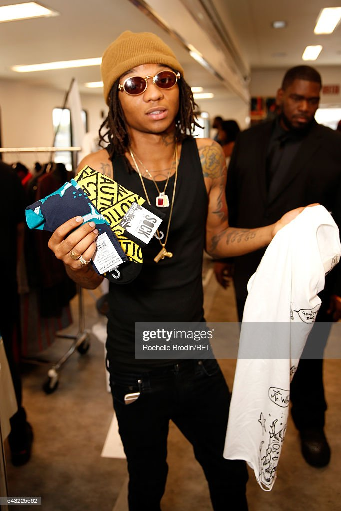 Recording artist <a gi-track='captionPersonalityLinkClicked' href=/galleries/search?phrase=Swae+Lee&family=editorial&specificpeople=12935150 ng-click='$event.stopPropagation()'>Swae Lee</a> of Rae Sremmurd attends the BETX gifting suite during the 2016 BET Experience on June 26, 2016 in Los Angeles, California.