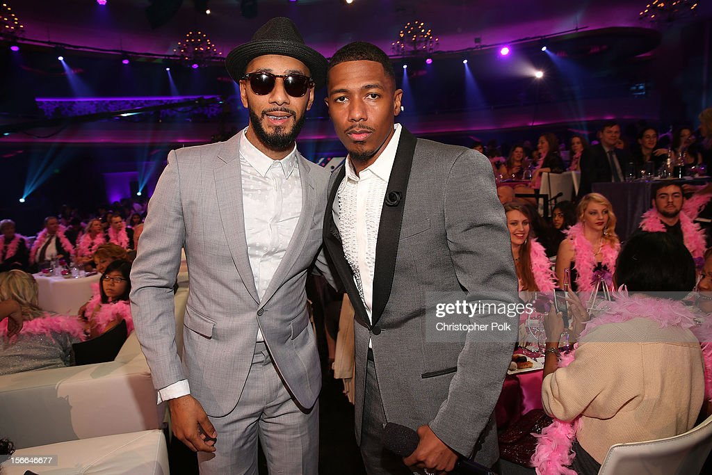 Recording artist <a gi-track='captionPersonalityLinkClicked' href=/galleries/search?phrase=Swizz+Beatz&family=editorial&specificpeople=567154 ng-click='$event.stopPropagation()'>Swizz Beatz</a> and TeenNick Chairman and HALO Awards host <a gi-track='captionPersonalityLinkClicked' href=/galleries/search?phrase=Nick+Cannon&family=editorial&specificpeople=202208 ng-click='$event.stopPropagation()'>Nick Cannon</a> attend Nickelodeon's 2012 TeenNick HALO Awards at Hollywood Palladium on November 17, 2012 in Hollywood, California. The show premieres on Monday, November 19th, 8:00p.m. (ET) on Nick at Nite.