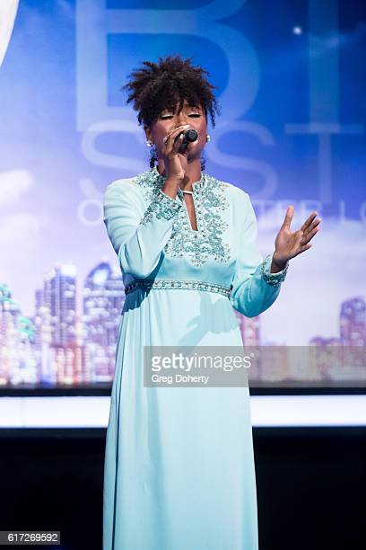 Recording Artist Syesha Mercado performs at the Big Brothers Big Sisters Of Greater Los Angeles Host Annual Big Bash Gala at The Beverly Hilton Hotel...