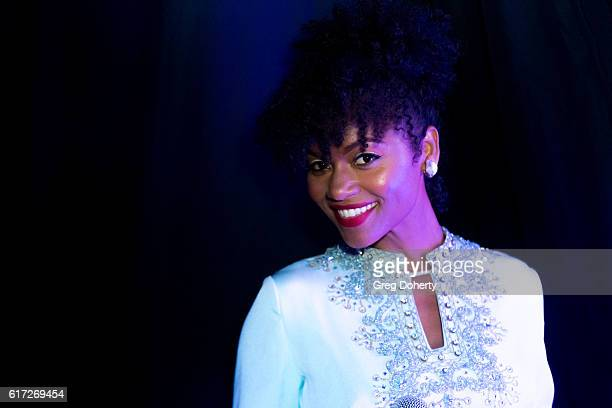 Recording Artist Syesha Mercado poses for a picture at the Big Brothers Big Sisters Of Greater Los Angeles Host Annual Big Bash Gala at The Beverly...