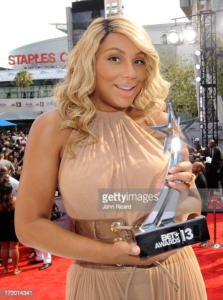 Recording artist Tamar Braxton attends 106 Park Stage PreShow during the BET Awards at Nokia Theatre LA Live on June 30 2013 in Los Angeles California