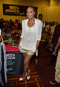 Recording artist Tamar Braxton attends day 1 of the radio broadcast center during the 2015 BET Experience on June 26 2015 in Los Angeles California