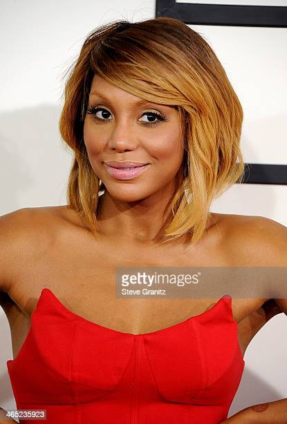 Recording artist Tamar Braxton attends the 56th GRAMMY Awards at Staples Center on January 26 2014 in Los Angeles California