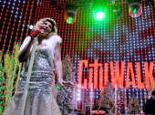 Recording artist Tamar Braxton performs in the Tree Lighting Ceremony at Universal CityWalk on December 5 2013 in Universal City California