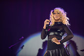 Recording artist Tamar Braxton performs onstage at the 2014 V103 For Sisters Only at Georgia World Congress Center on October 11 2014 in Atlanta...