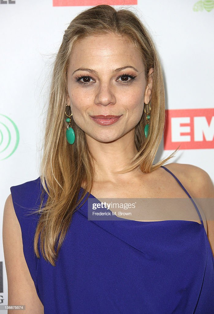 Recording artist Tamara Braun attends the EMI GRAMMY After Party at the Capital Records Building on February 12, 2012 in Hollywood, California.