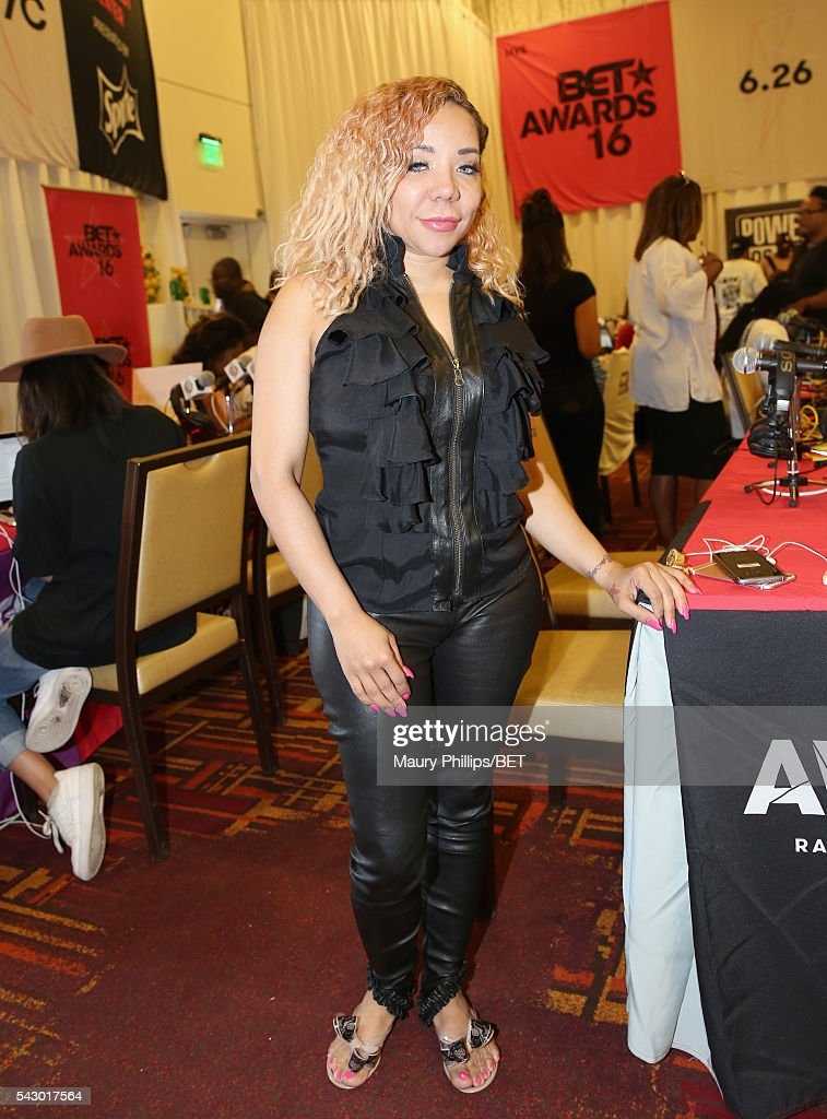 Recording artist Tameka 'Tiny' Cottle attends the radio broadcast center during the 2016 BET Experience at the JW Marriott Los Angeles L.A. Live on June 25, 2016 in Los Angeles, California.