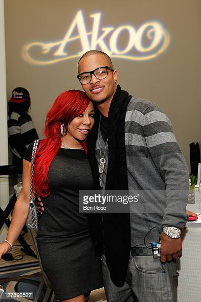Recording artist Tameka 'Tiny' CottleHarris and her husband Actor Clifford 'TI' Harris attend TI's AKOO Clothing First Annual A King Of Oneself...