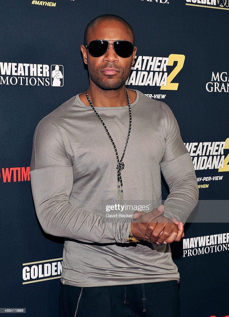 Recording artist Tank arrives at Showtime's VIP prefight party for 'Mayhem Mayweather vs Maidana 2' at the MGM Grand Garden Arena on September 13...
