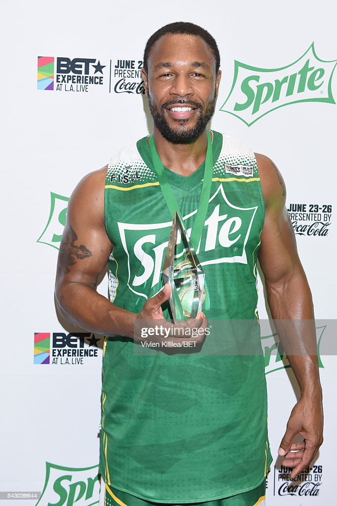Recording artist Tank is seen in the green room at the celebrity basketball game during the 2016 BET Experience at the JW Marriott Los Angeles L.A. Live on June 25, 2016 in Los Angeles, California.