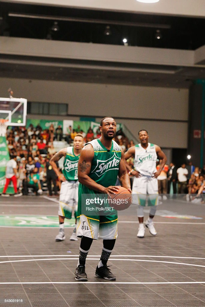 Recording artist Tank participates in the celebrity basketball game presented by Sprite during the 2016 BET Experience on June 25, 2016 in Los Angeles, California.