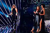 Recording artist Taylor Swift accepts the award for 'Album of the Year' for '1989' onstage at the iHeartRadio Music Awards which broadcasted live on...