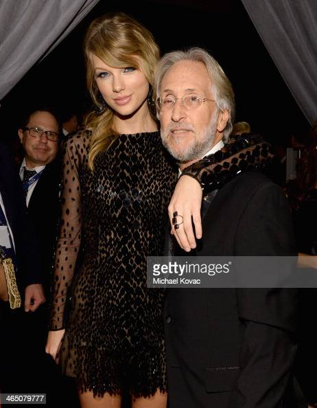 Recording artist Taylor Swift and Recording Academy President/CEO Neil Portnow attend the 56th annual GRAMMY Awards PreGRAMMY Gala and Salute to...