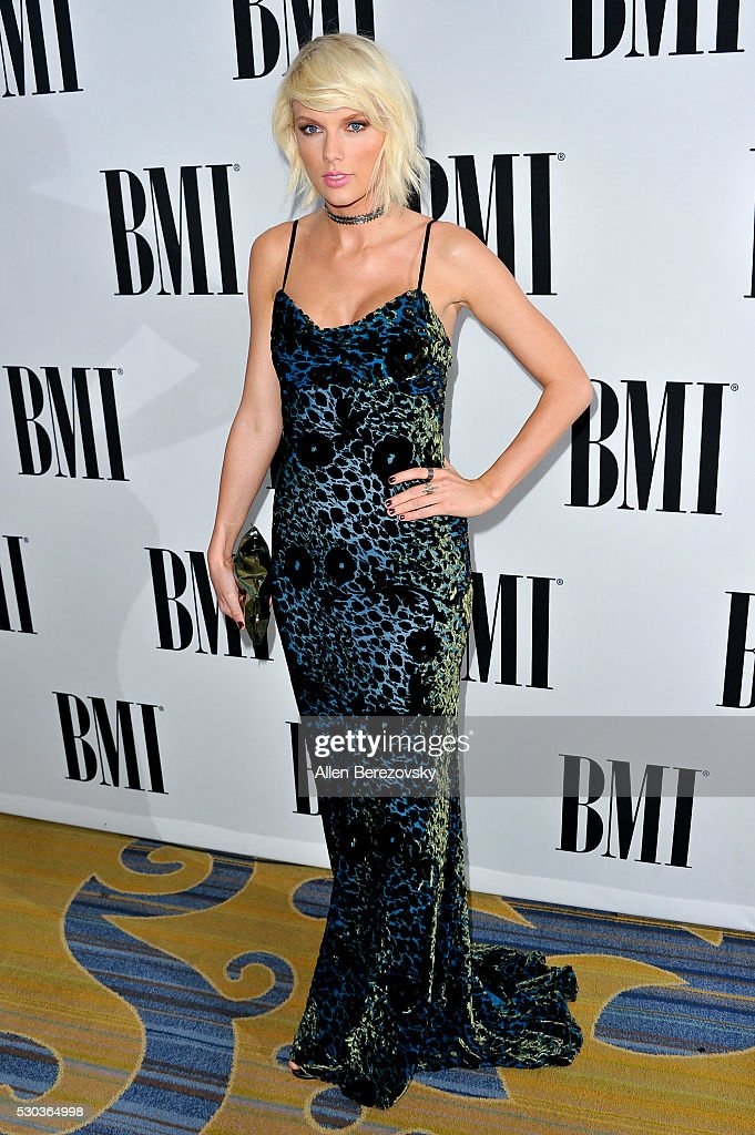 Recording artist Taylor Swift attends the 64th Annual BMI Pop Awards at the Beverly Wilshire Four Seasons Hotel on May 10, 2016 in Beverly Hills, California.