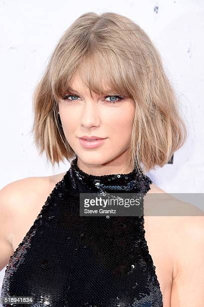 Recording artist Taylor Swift attends the iHeartRadio Music Awards at The Forum on April 3 2016 in Inglewood California