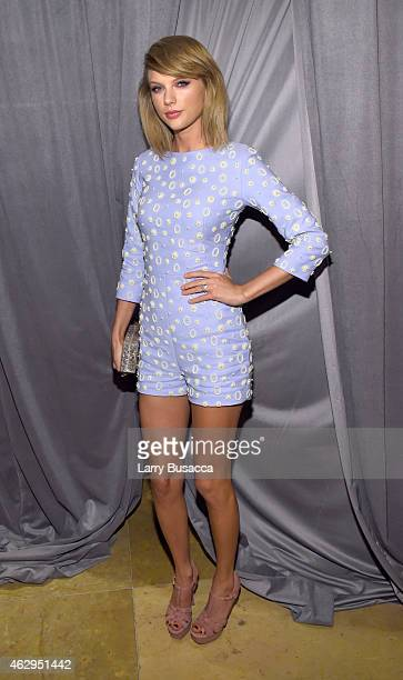 Recording artist Taylor Swift attends the PreGRAMMY Gala and Salute To Industry Icons honoring Martin Bandier on February 7 2015 in Los Angeles...