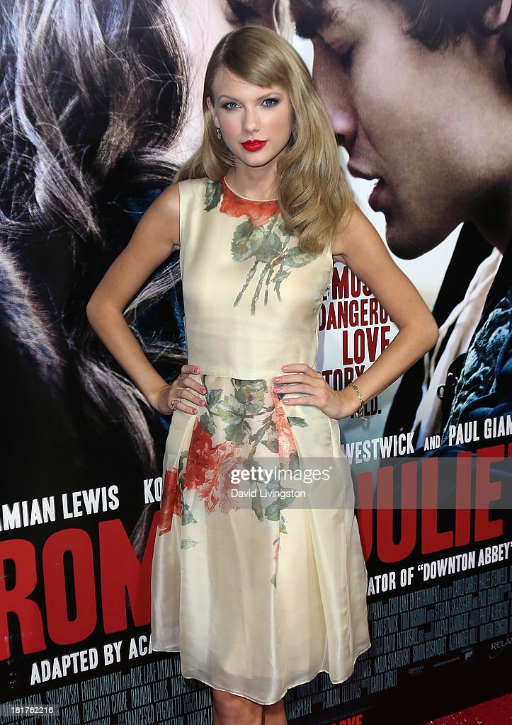 Recording artist Taylor Swift attends the premiere of Relativity Media's 'Romeo & Juliet' at ArcLight Hollywood on September 24, 2013 in Hollywood, California.