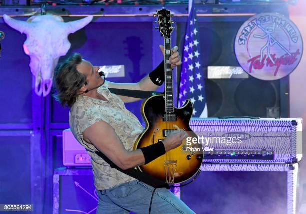 Recording artist Ted Nugent performs at the Sunset Amphitheater at the Sunset Station Hotel Casino on July 1 2017 in Henderson Nevada
